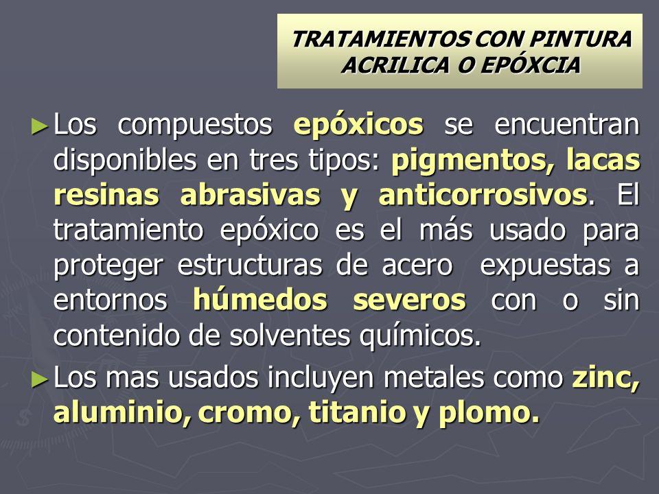 TRATAMIENTOS CON PINTURA ACRILICA O EPÓXCIA