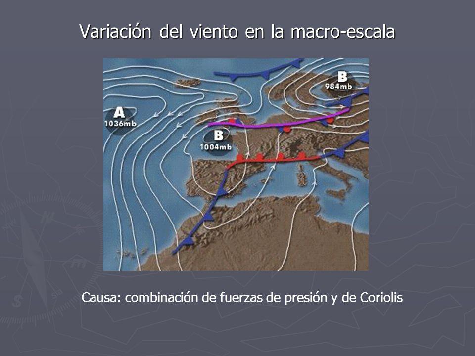 Variación del viento en la macro-escala