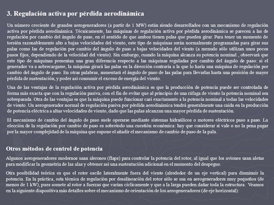 3. Regulación activa por pérdida aerodinámica