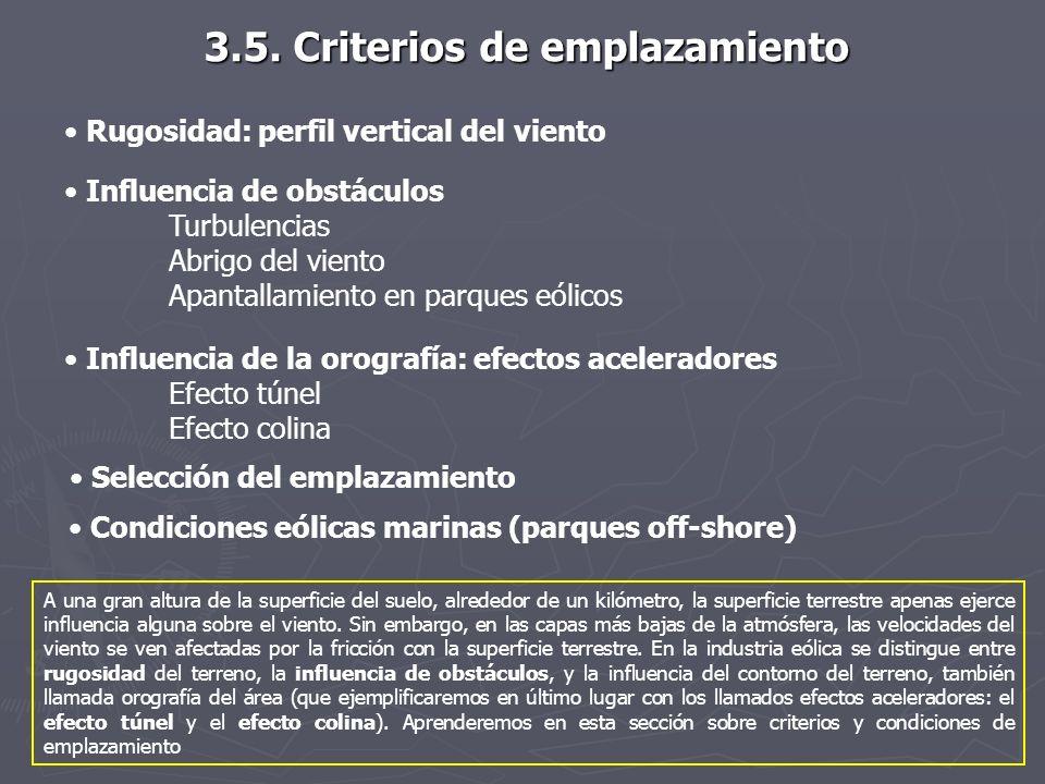 3.5. Criterios de emplazamiento