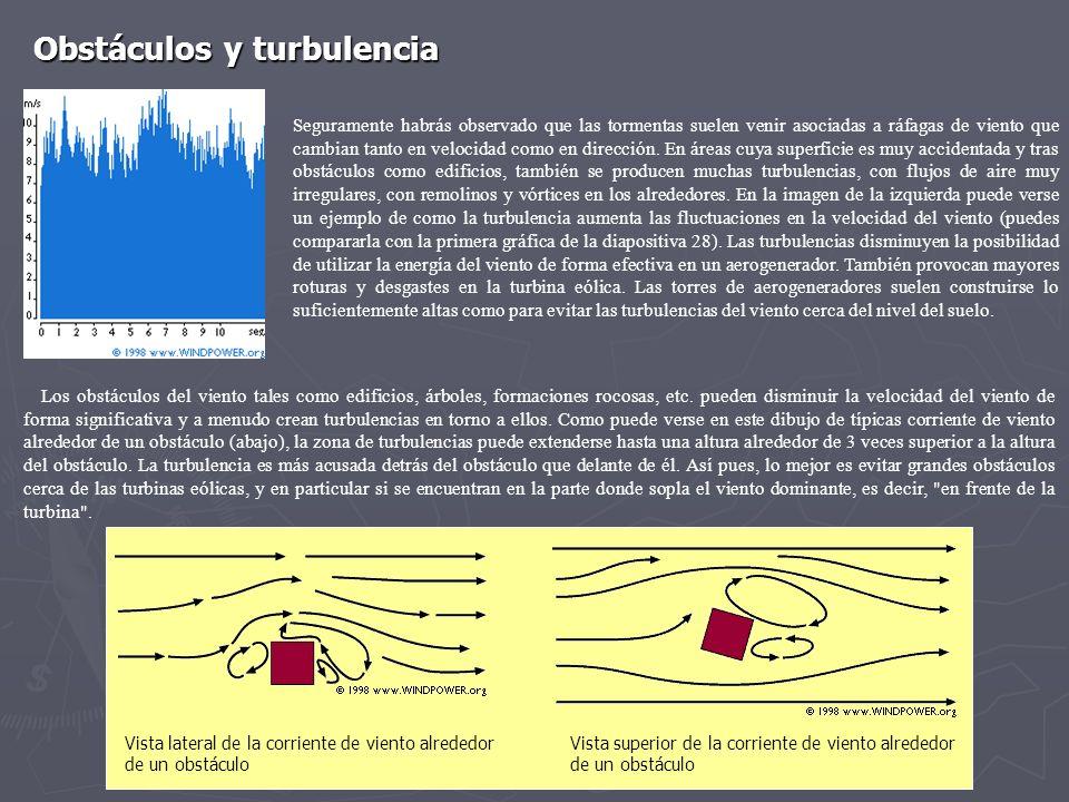 Obstáculos y turbulencia