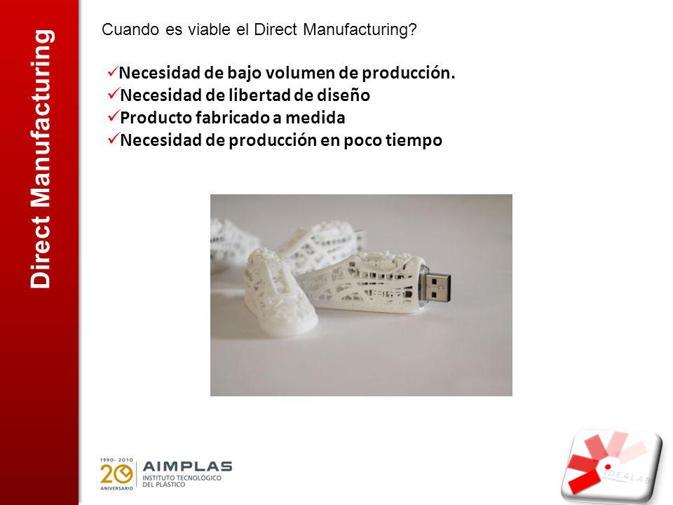 Direct Manufacturing Necesidad de libertad de diseño