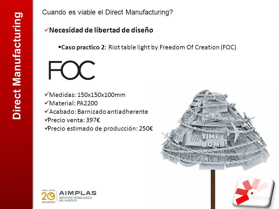 Direct Manufacturing Cuando es viable el Direct Manufacturing