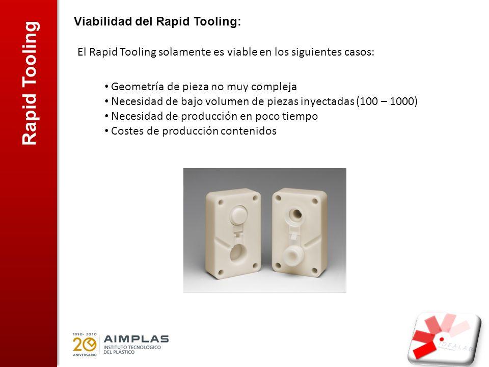 Rapid Tooling Viabilidad del Rapid Tooling: