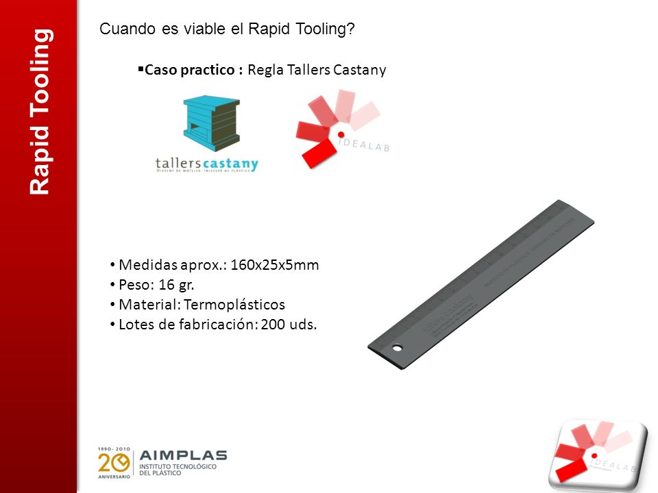 Rapid Tooling Cuando es viable el Rapid Tooling