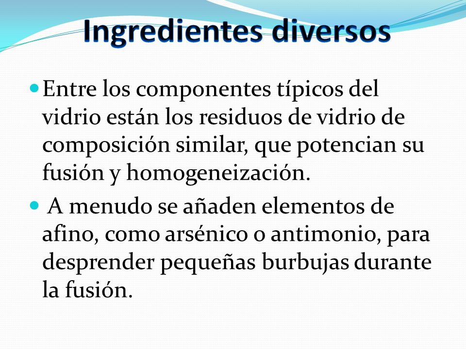Ingredientes diversos