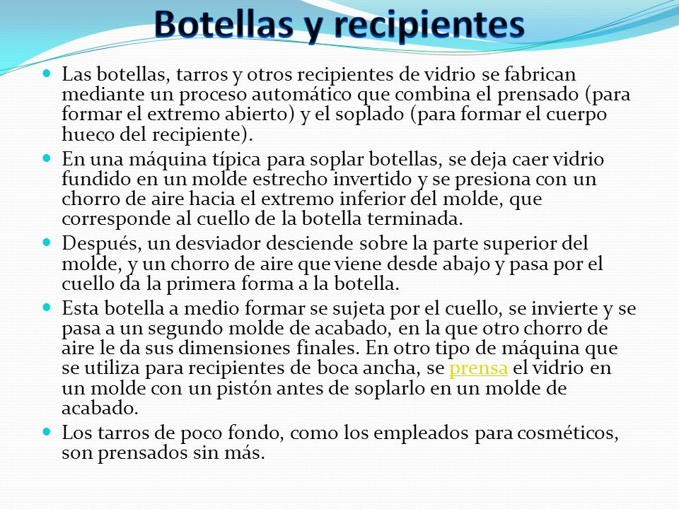 Botellas y recipientes