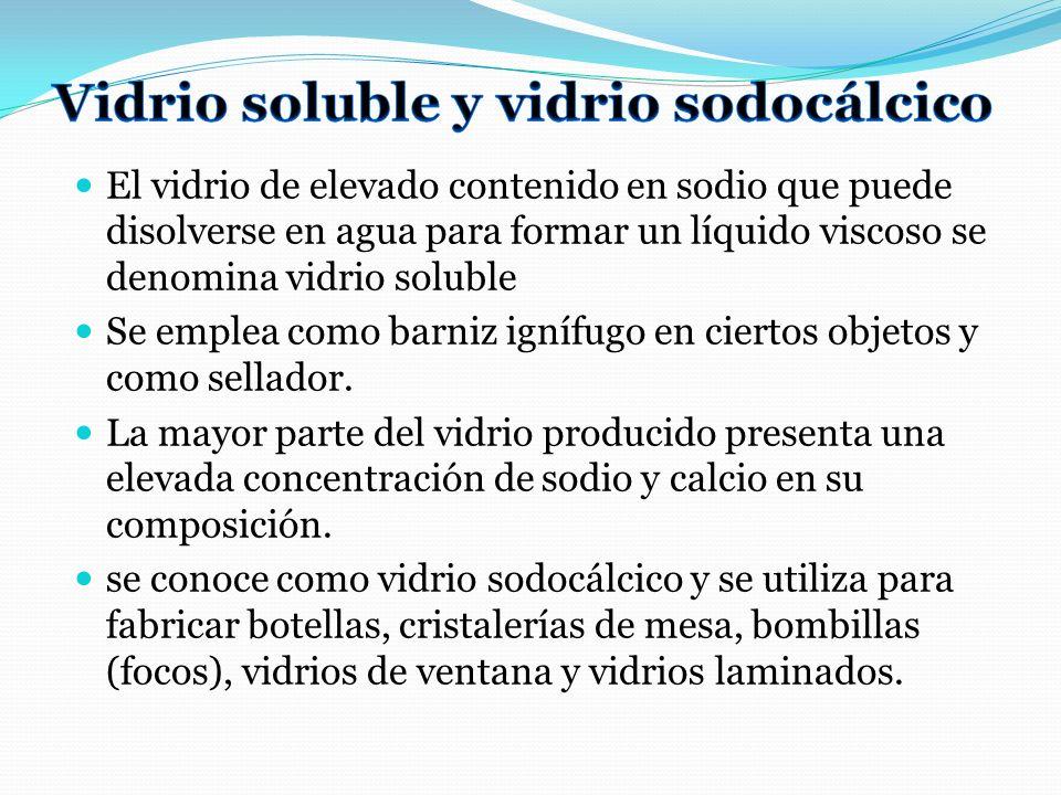 Vidrio soluble y vidrio sodocálcico
