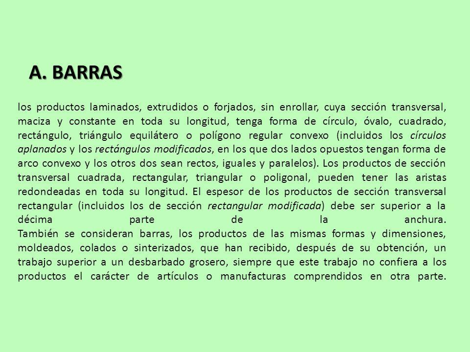 A. BARRAS