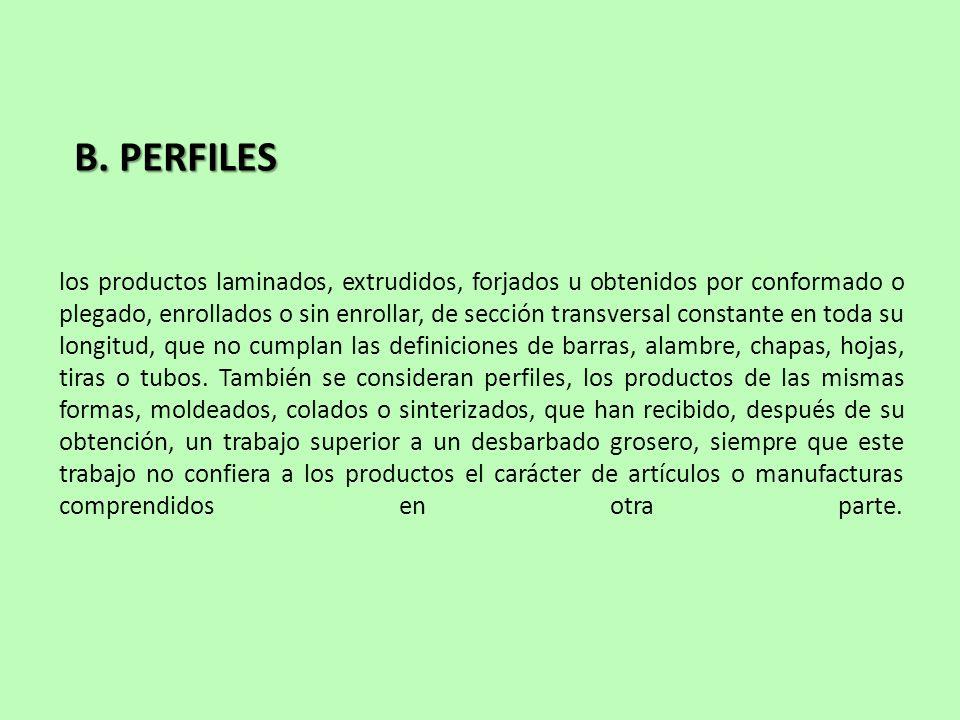 B. PERFILES