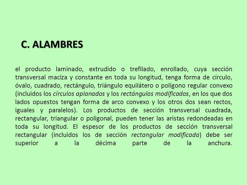 C. ALAMBRES