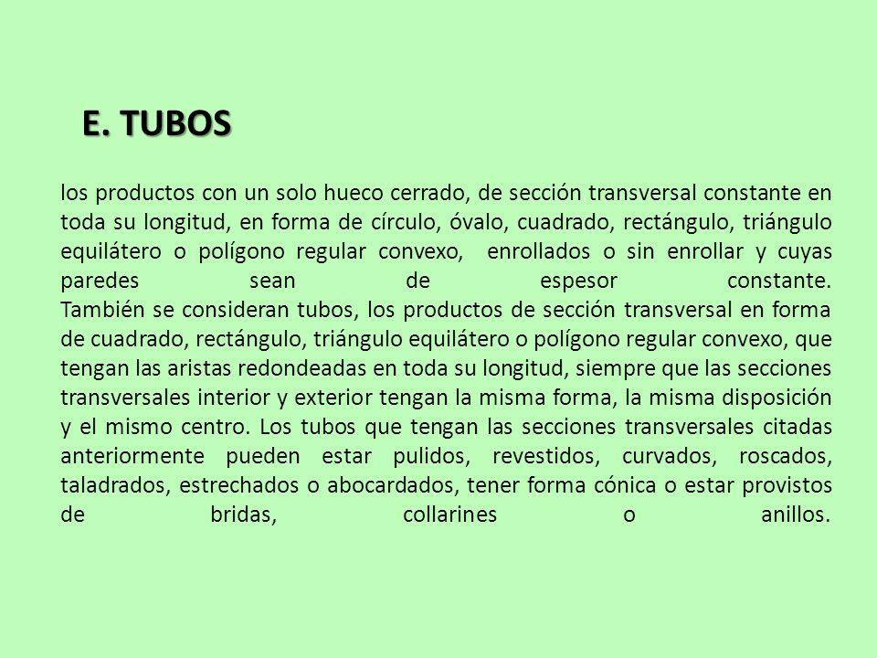 E. TUBOS