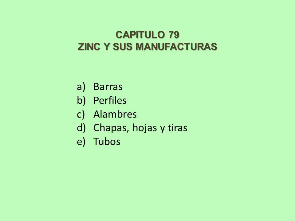 ZINC Y SUS MANUFACTURAS