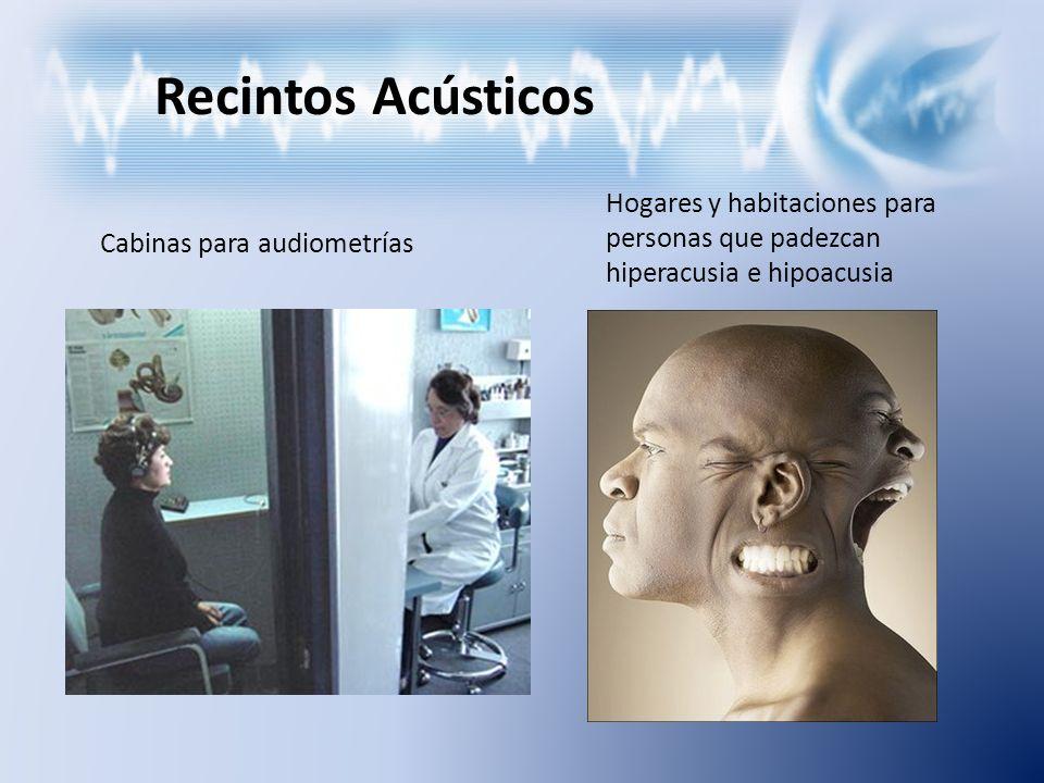 Recintos Acústicos Hogares y habitaciones para personas que padezcan hiperacusia e hipoacusia.