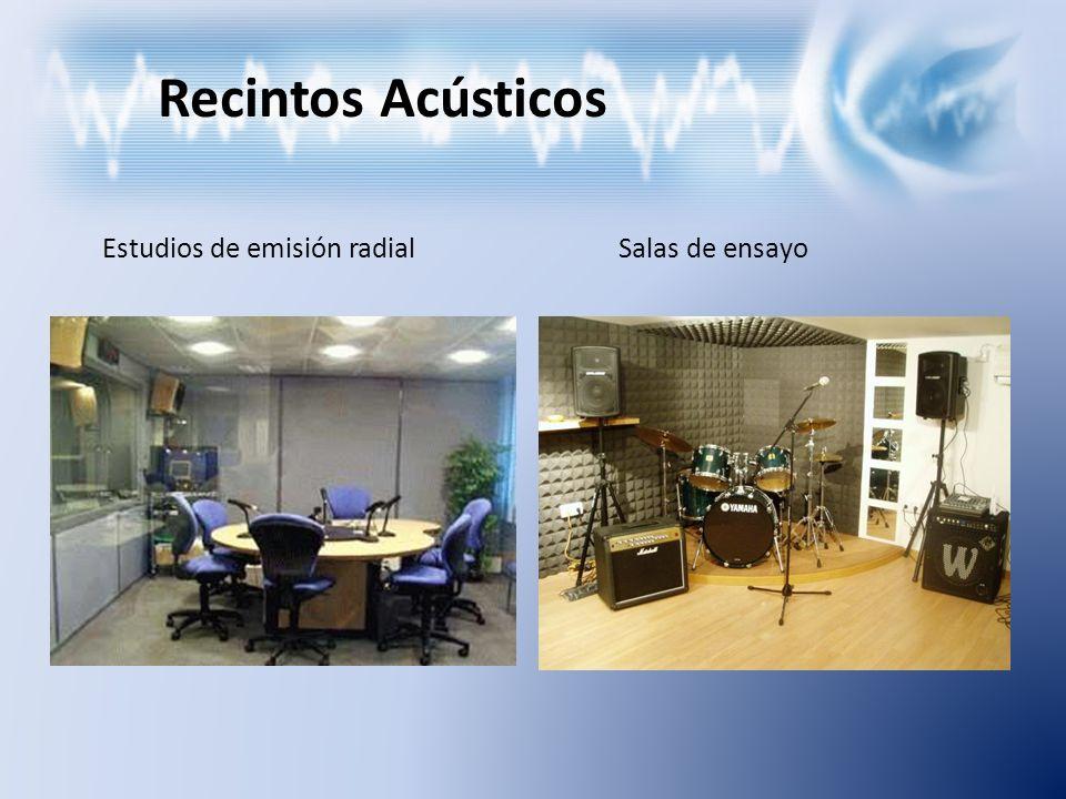 Recintos Acústicos Estudios de emisión radial Salas de ensayo