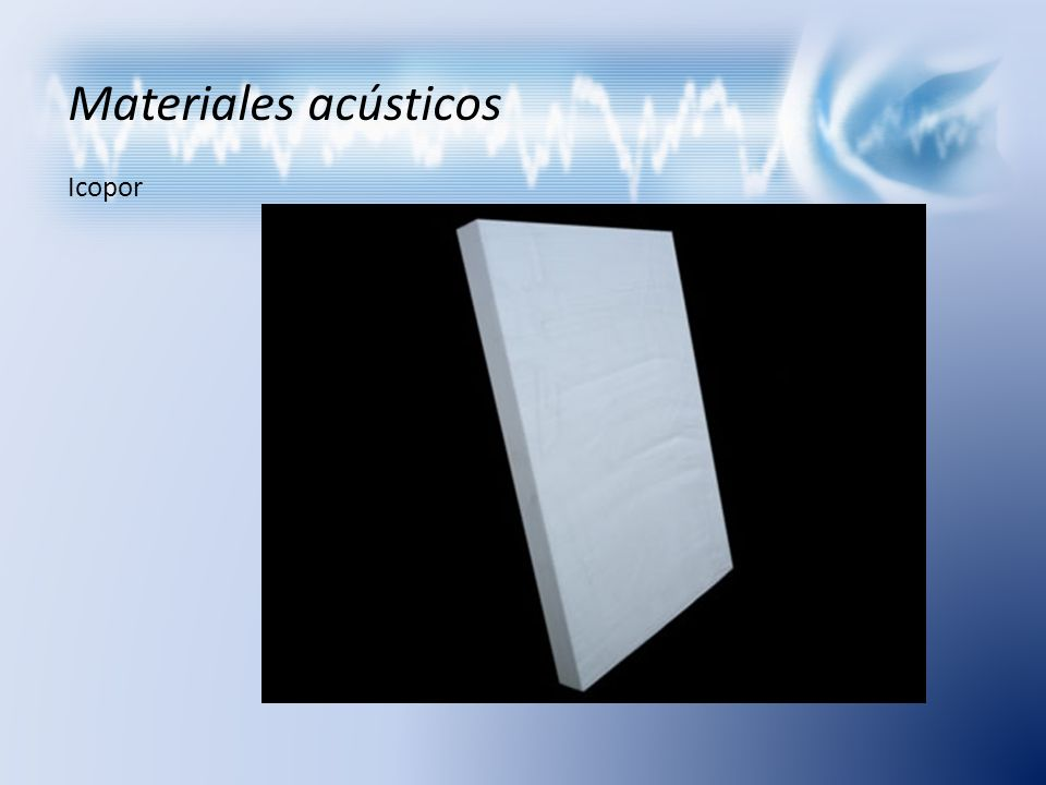 Materiales acústicos Icopor