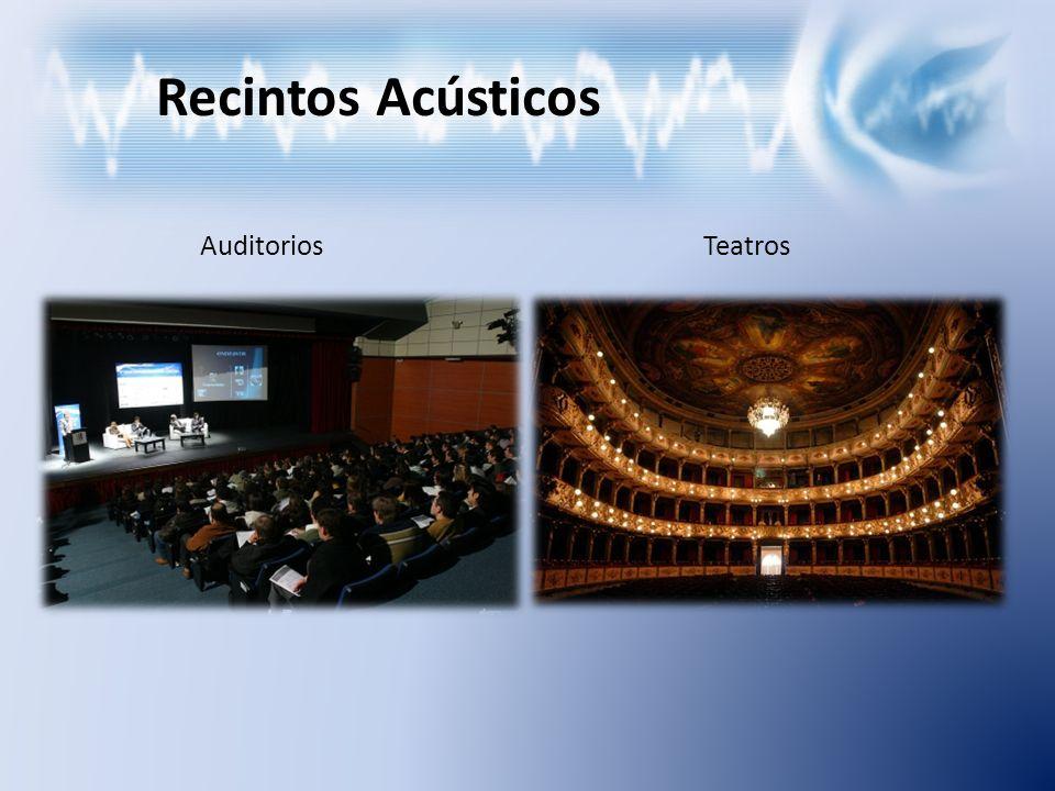 Recintos Acústicos Auditorios Teatros