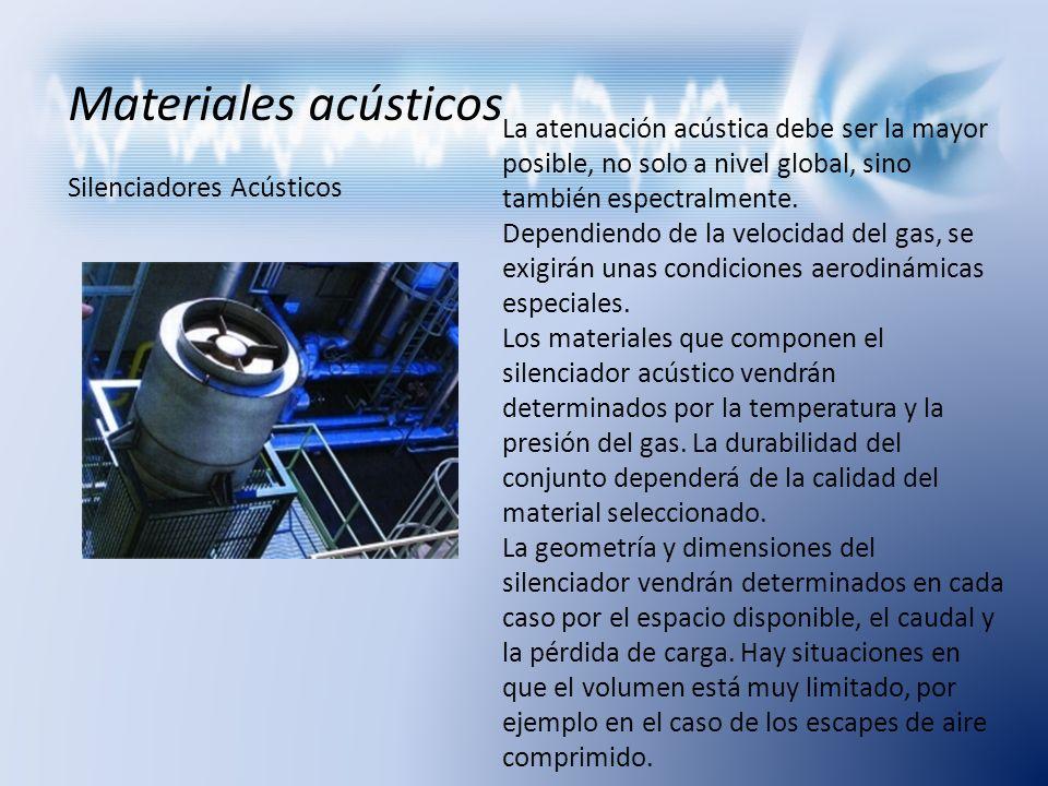 Materiales acústicos Silenciadores Acústicos.