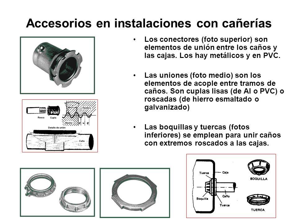 Accesorios en instalaciones con cañerías