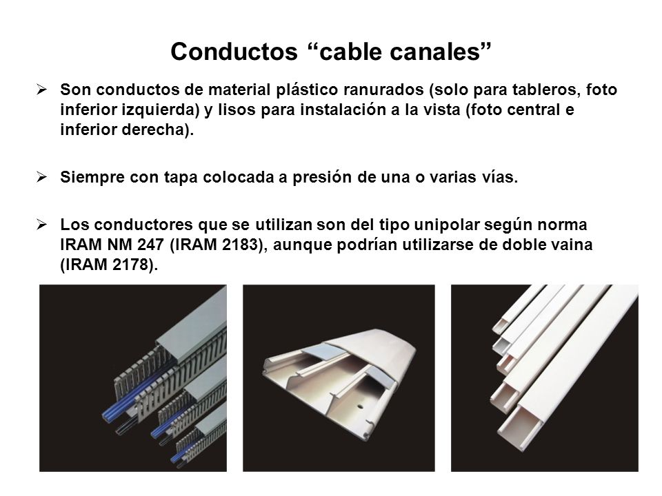 Conductos cable canales
