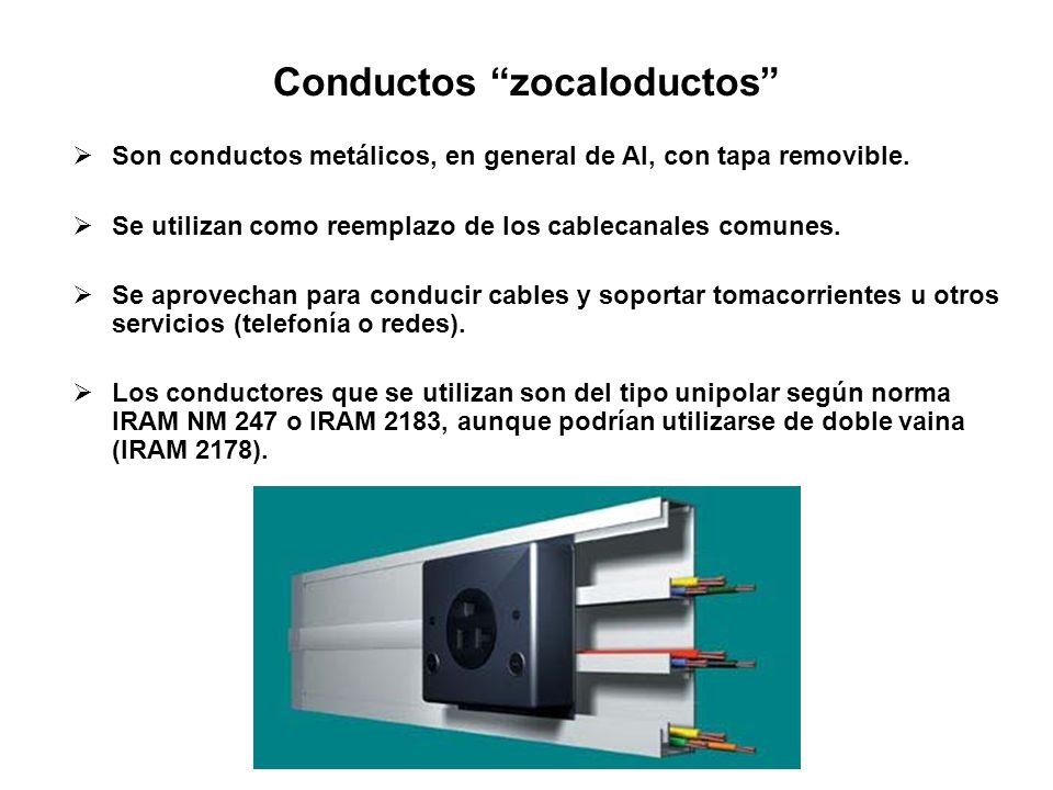 Conductos zocaloductos