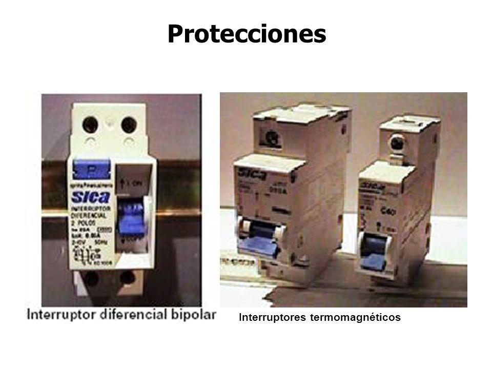Protecciones Interruptores termomagnéticos