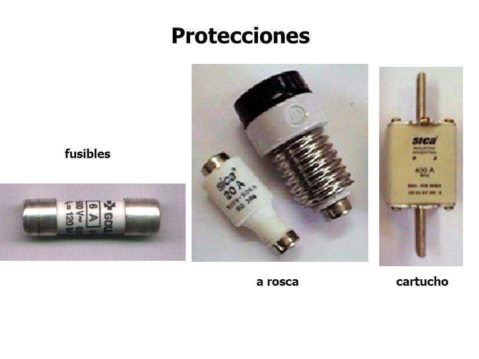 Protecciones fusibles a rosca cartucho