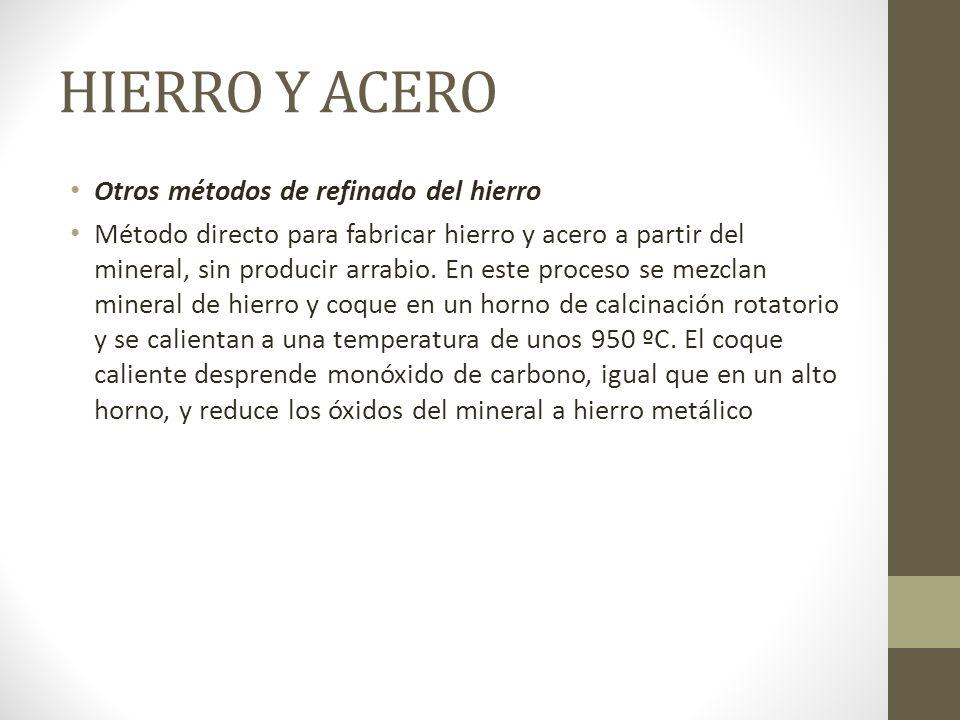 HIERRO Y ACERO Otros métodos de refinado del hierro