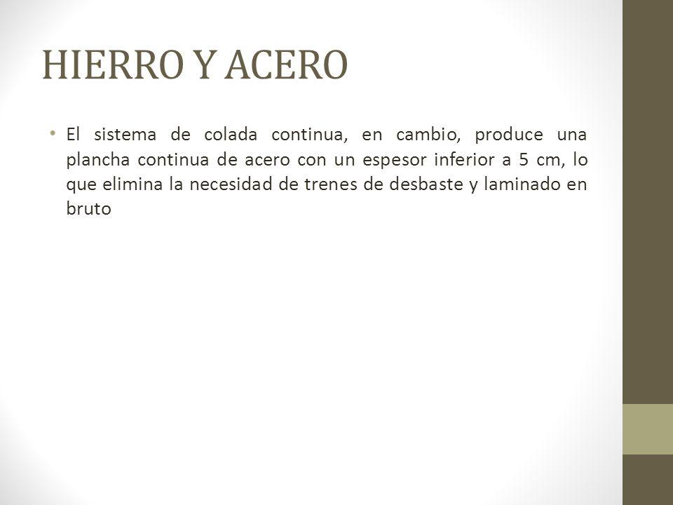 HIERRO Y ACERO