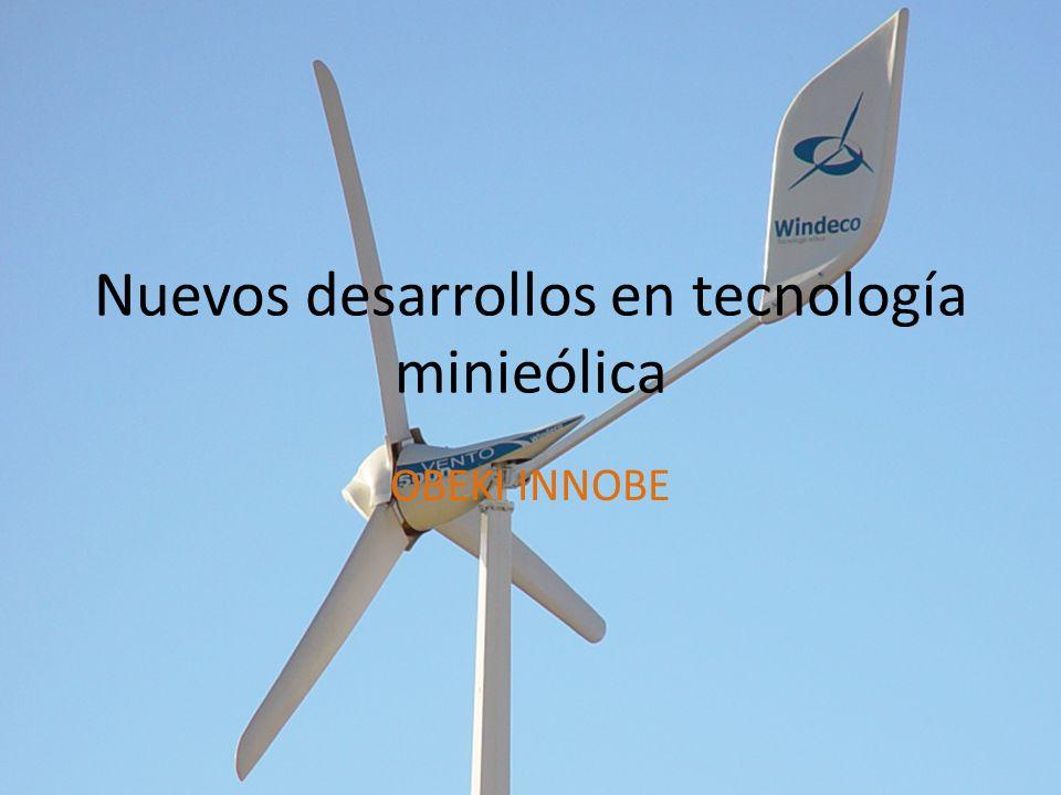 Nuevos desarrollos en tecnología minieólica