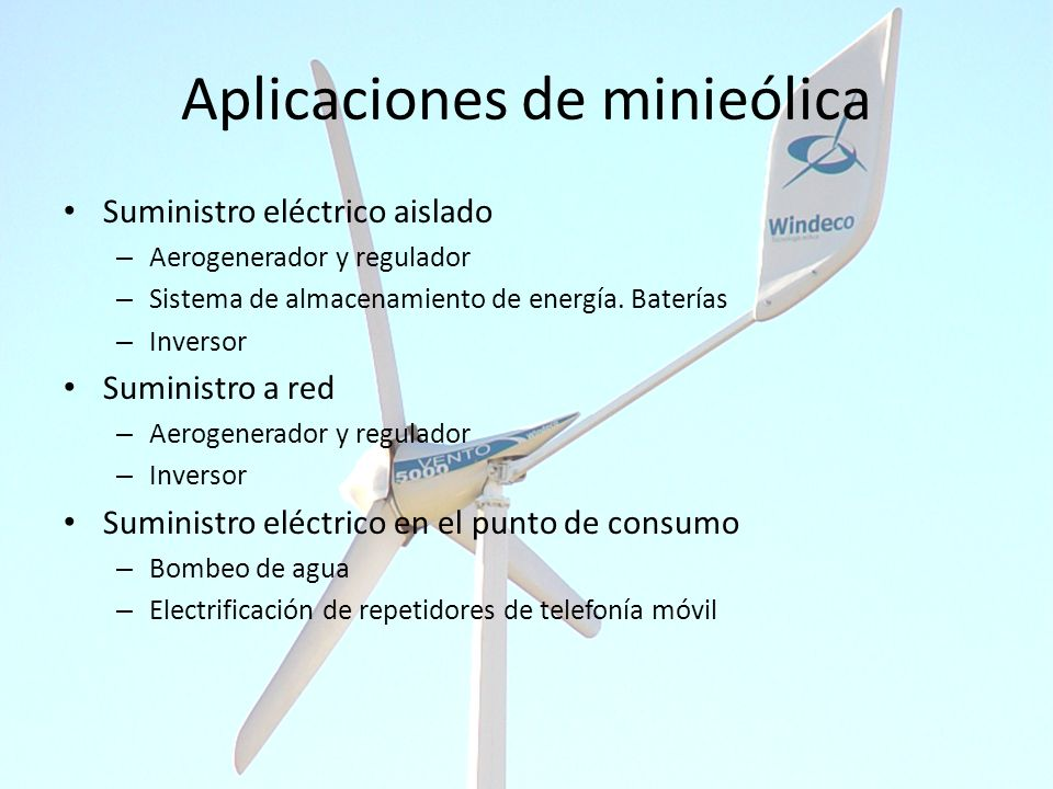 Aplicaciones de minieólica
