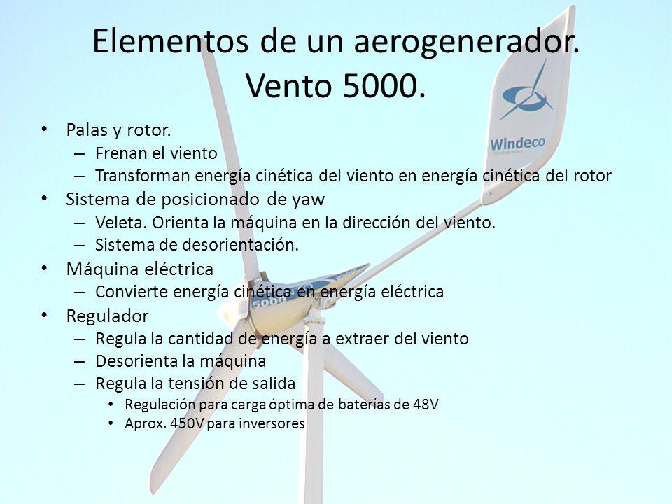 Elementos de un aerogenerador. Vento 5000.