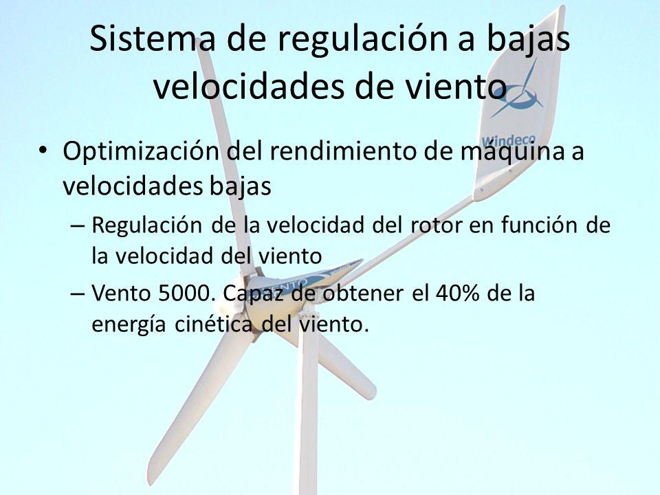 Sistema de regulación a bajas velocidades de viento