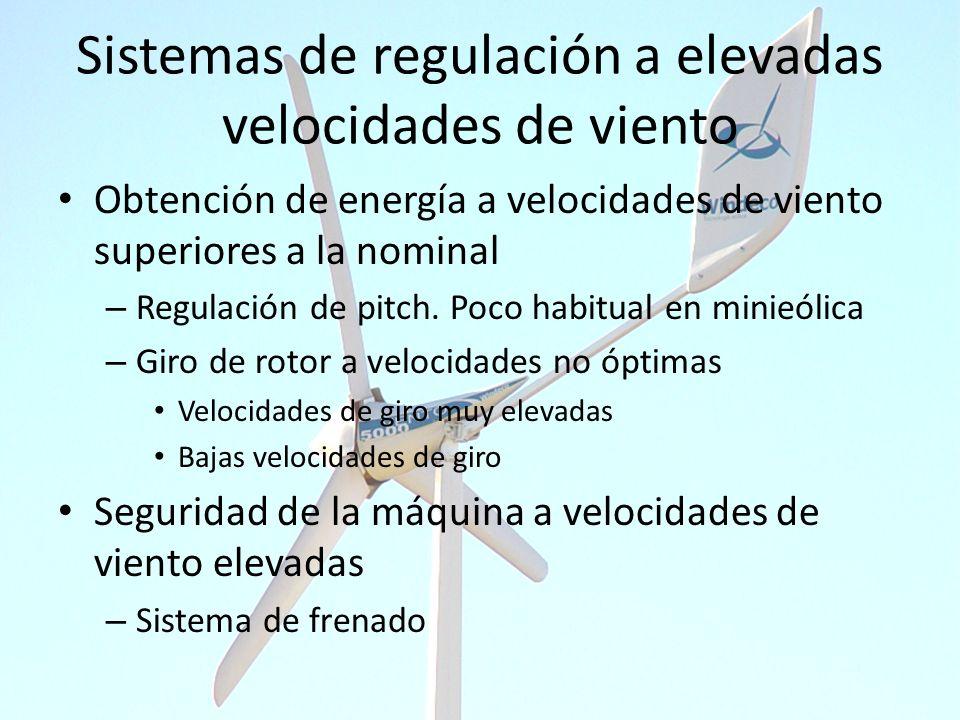 Sistemas de regulación a elevadas velocidades de viento