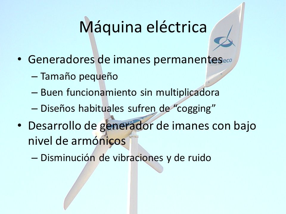 Máquina eléctrica Generadores de imanes permanentes