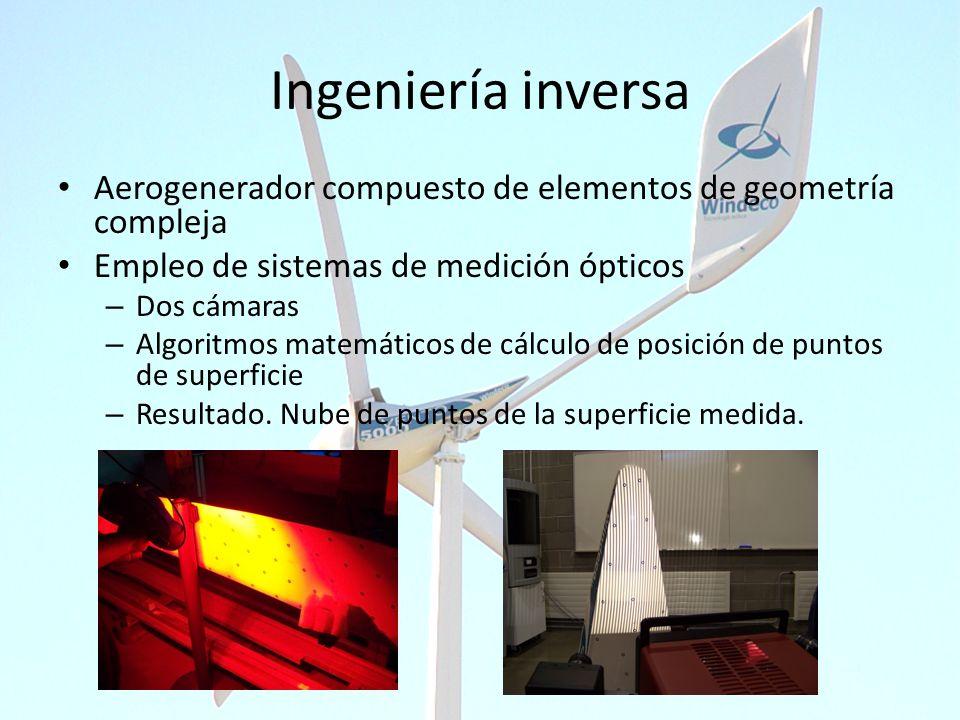 Ingeniería inversa Aerogenerador compuesto de elementos de geometría compleja. Empleo de sistemas de medición ópticos.