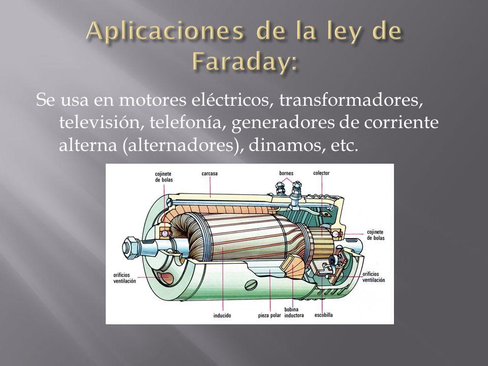 Aplicaciones de la ley de Faraday: