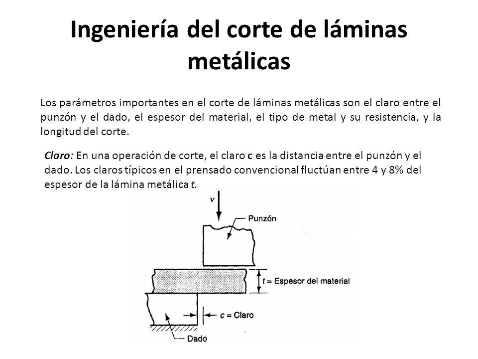 Ingeniería del corte de láminas metálicas