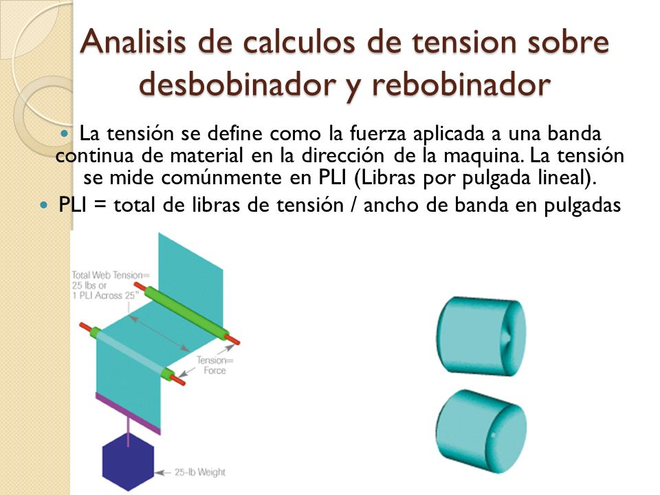 Analisis de calculos de tension sobre desbobinador y rebobinador