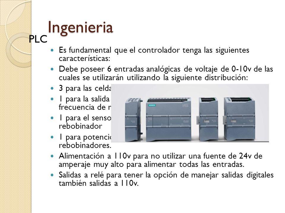 Ingenieria PLC. Es fundamental que el controlador tenga las siguientes características: