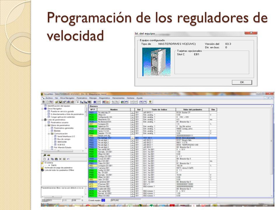 Programación de los reguladores de velocidad