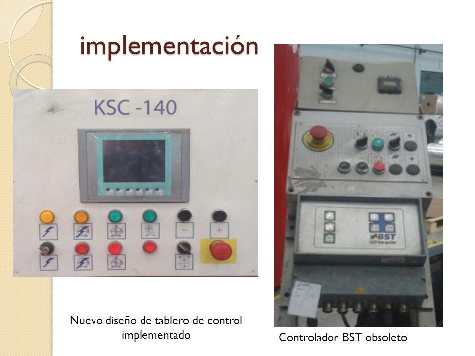 Nuevo diseño de tablero de control implementado