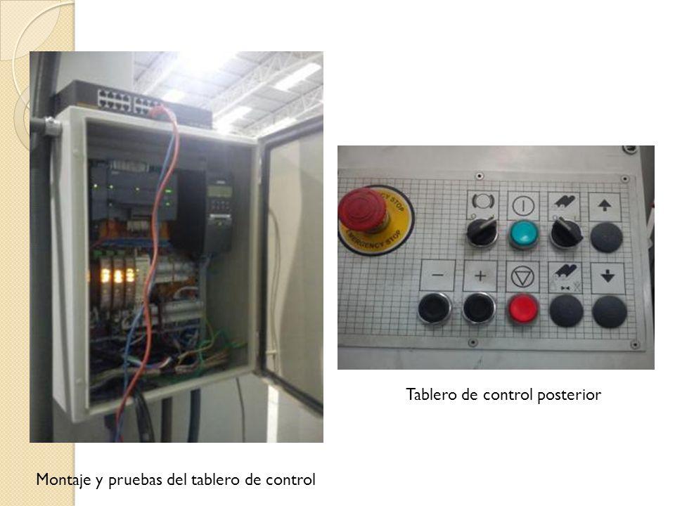 Tablero de control posterior