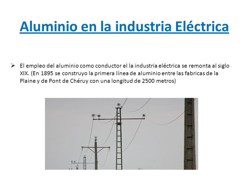 Aluminio en la industria Eléctrica