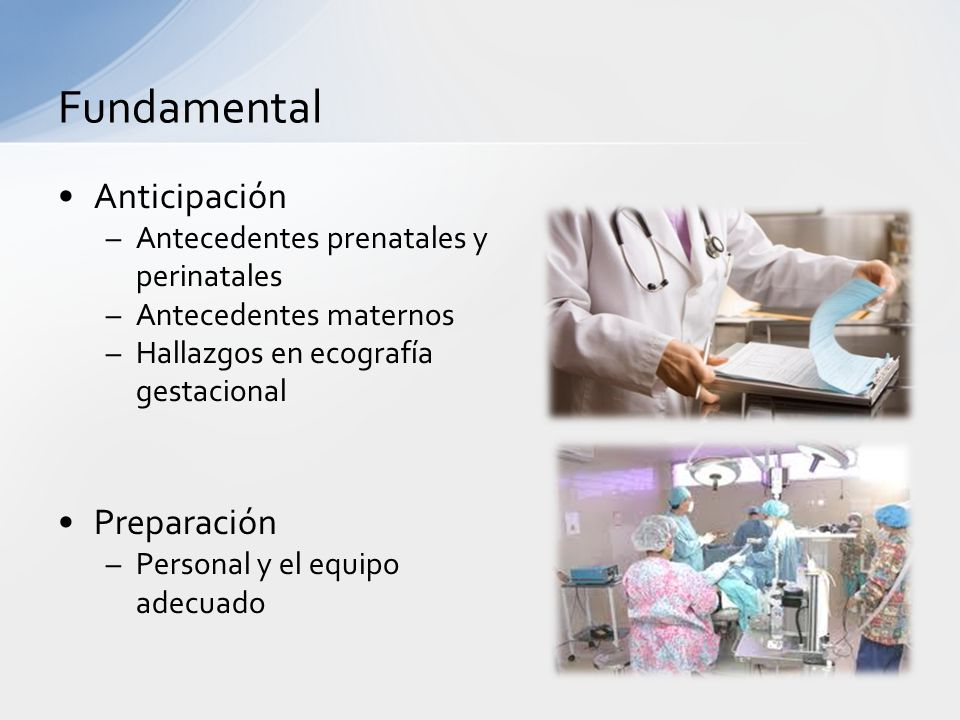 Fundamental Anticipación Preparación Antecedentes prenatales y