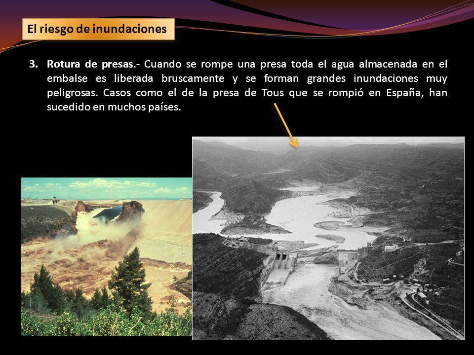 El riesgo de inundaciones