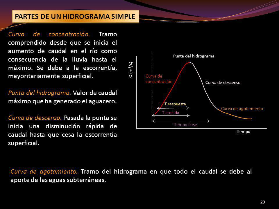 PARTES DE UN HIDROGRAMA SIMPLE