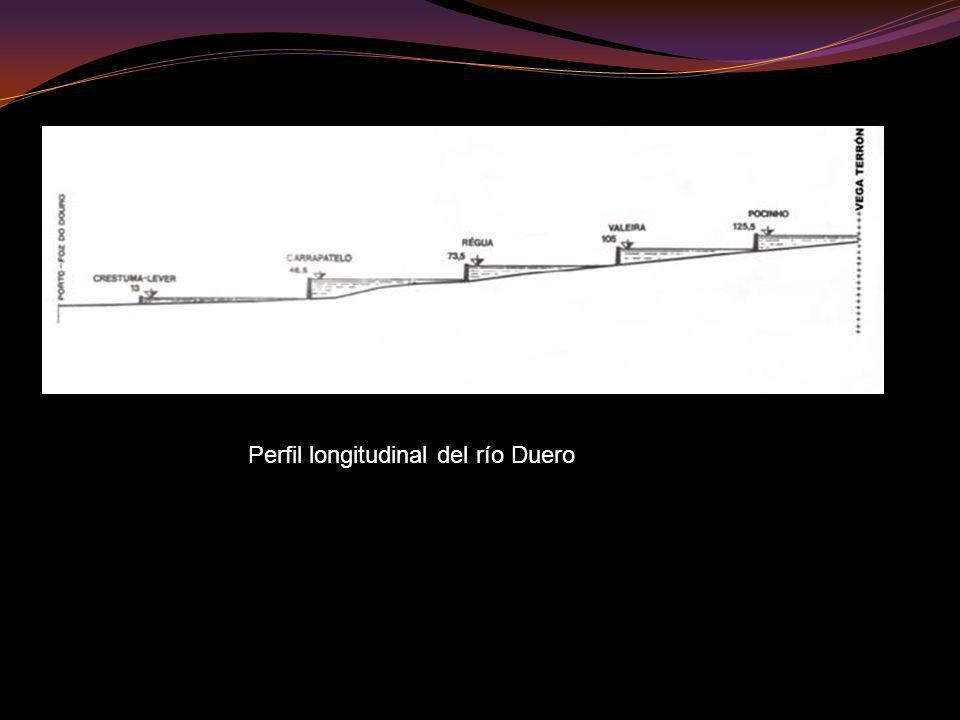 Perfil longitudinal del río Duero