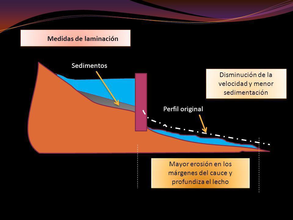 Disminución de la velocidad y menor sedimentación