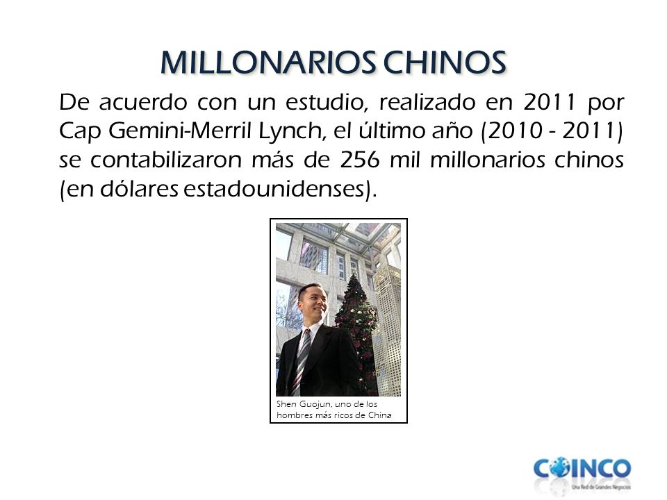MILLONARIOS CHINOS